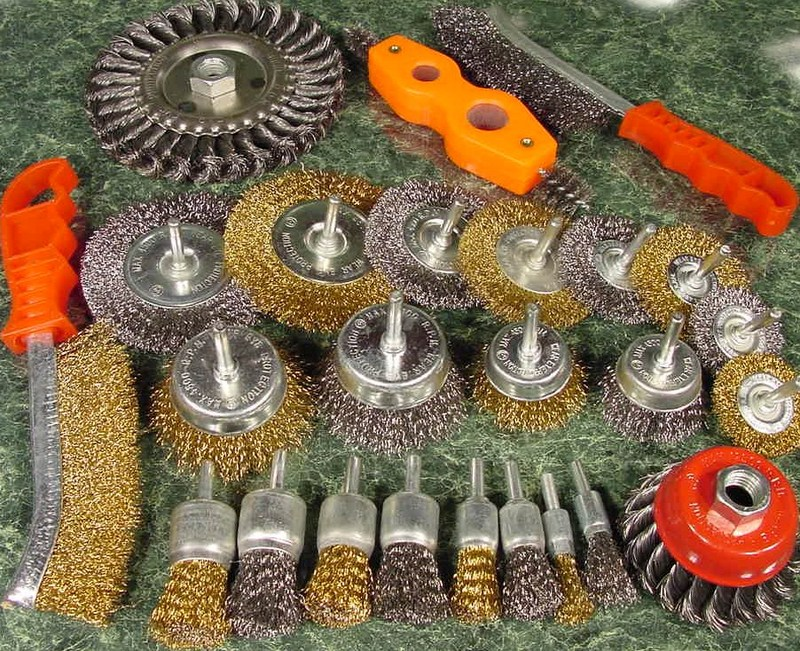 25pc. Assorted WIRE WHEELS and BRUSH Set